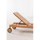Kurni teakhouten ligstoel, miniatuur afbeelding 5