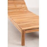 Kurni teakhouten ligstoel, miniatuur afbeelding 6