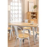LIX Vintage houten tafel (120x60), miniatuur afbeelding 1