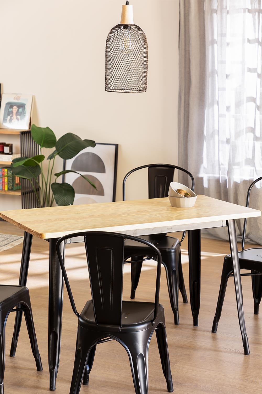 LIX Vintage houten tafel (120x60), galerij beeld 1