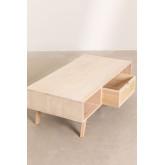 Houten salontafel met centrale lade in Ralik-stijl, miniatuur afbeelding 5