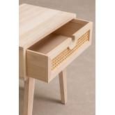 Nachtkastje in Ralik-stijl met lade in hout, miniatuur afbeelding 4