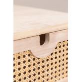Nachtkastje in Ralik-stijl met lade in hout, miniatuur afbeelding 5