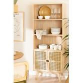Houten dressoir met 2 planken in Ralik-stijl, miniatuur afbeelding 1
