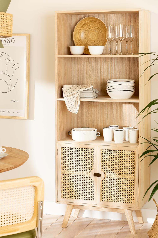 Houten dressoir met 2 planken in Ralik-stijl, galerij beeld 1