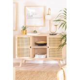 Houten dressoir in Ralik-stijl, miniatuur afbeelding 1