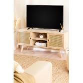 Houten tv-meubel in Ralik-stijl, miniatuur afbeelding 1