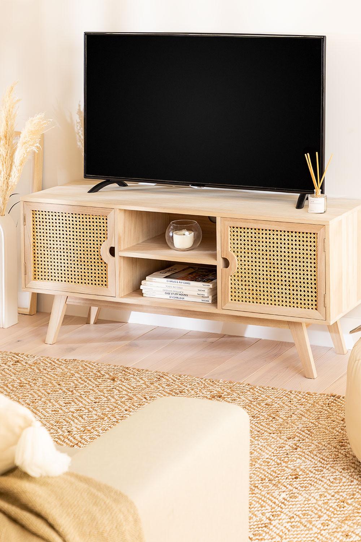 Houten tv-meubel in Ralik-stijl, galerij beeld 1