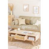 Houten salontafel met centrale lade in Ralik-stijl, miniatuur afbeelding 2