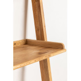 Zina-stijl eikenhouten bureau met planken, miniatuur afbeelding 4