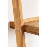 Zina-stijl eikenhouten bureau met planken, miniatuur afbeelding 5