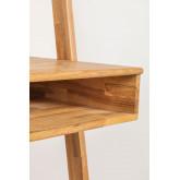 Zina-stijl eikenhouten bureau met planken, miniatuur afbeelding 6