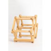 Pascal Opvouwbaar Bamboe Wijnrek, miniatuur afbeelding 3