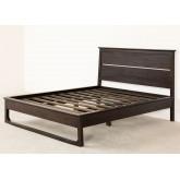 Teakhouten bed voor Somy matras 160 cm, miniatuur afbeelding 2