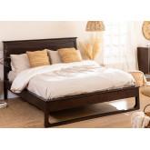 Teakhouten bed voor Somy matras 160 cm, miniatuur afbeelding 1