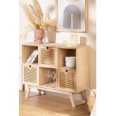 Houten dressoir in Ralik-stijl met lades, miniatuur afbeelding 1
