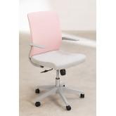 Yener bureaustoel met wieltjes, miniatuur afbeelding 3