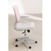 Yener bureaustoel met wieltjes, miniatuur afbeelding 4