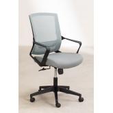 Bureaustoel met werkkleuren op wielen, miniatuur afbeelding 3