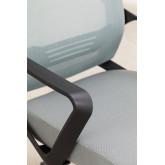 Bureaustoel met werkkleuren op wielen, miniatuur afbeelding 6