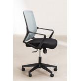 Bureaustoel met werkkleuren op wielen, miniatuur afbeelding 5