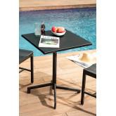 Opklapbare en converteerbare bartafel in 2 hoogtes in staal (60x60 cm) Dely , miniatuur afbeelding 1