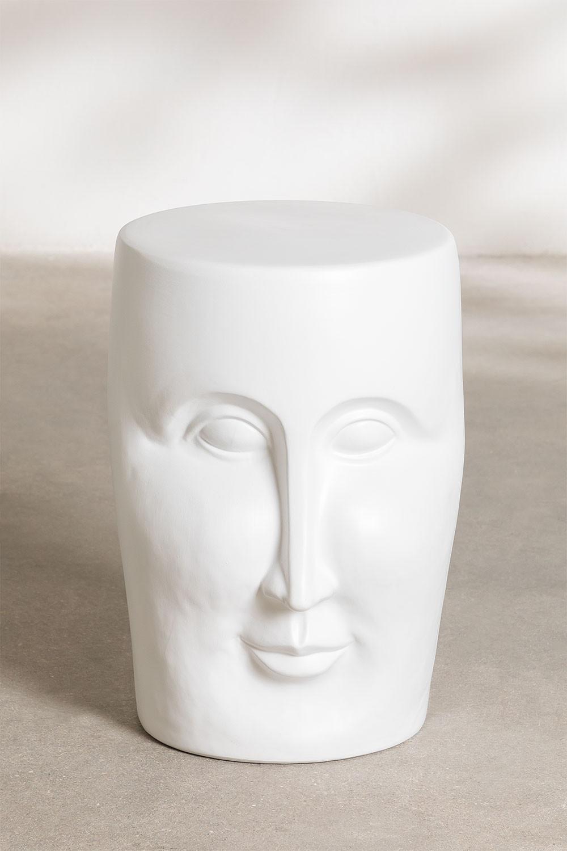 Ronde bijzettafel van keramiek (Ø32 cm) Jaret Mate , galerij beeld 1