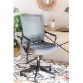 Bureaustoel met werkkleuren op wielen, miniatuur afbeelding 1
