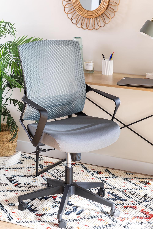 Bureaustoel met werkkleuren op wielen, galerij beeld 1