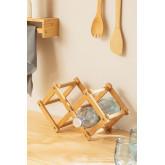 Pascal Opvouwbaar Bamboe Wijnrek, miniatuur afbeelding 1