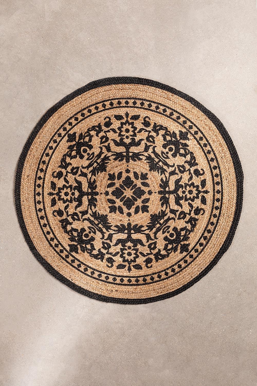 Rond vloerkleed van natuurlijk jute (Ø100 cm) Tricia, galerij beeld 1