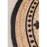 Rond vloerkleed van natuurlijk jute (Ø100 cm) Tricia, miniatuur afbeelding 2