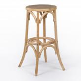 Thon hoge kruk in naturel hout, miniatuur afbeelding 1