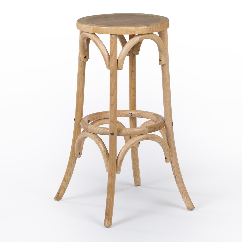 Thon hoge kruk in naturel hout, galerij beeld 1