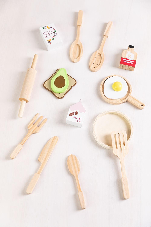 Acatte Kids Houten Ontbijtset, galerij beeld 1