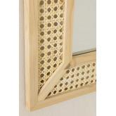 Rechthoekige houten wandspiegel (60x40 cm) Frey, miniatuur afbeelding 4