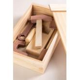 Decker houten gereedschapskist voor kinderen , miniatuur afbeelding 1