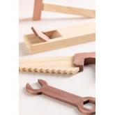 Decker houten gereedschapskist voor kinderen , miniatuur afbeelding 4