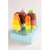 Friggo Kids houten ijsjes set van 6, miniatuur afbeelding 1