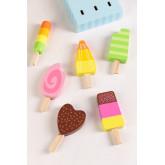 Friggo Kids houten ijsjes set van 6, miniatuur afbeelding 2