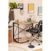 Andra opvouwbaar bureau in MDF en metaal, miniatuur afbeelding 1