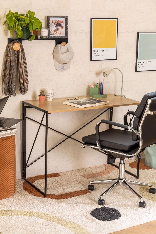 Andra opvouwbaar bureau in MDF en metaal, galerij beeld 1