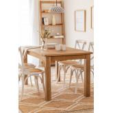 Rechthoekige houten eettafel (150x85 cm) Alya, miniatuur afbeelding 1