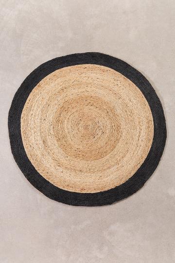 Rond vloerkleed van natuurlijk jute (Ø150 cm) Dagna