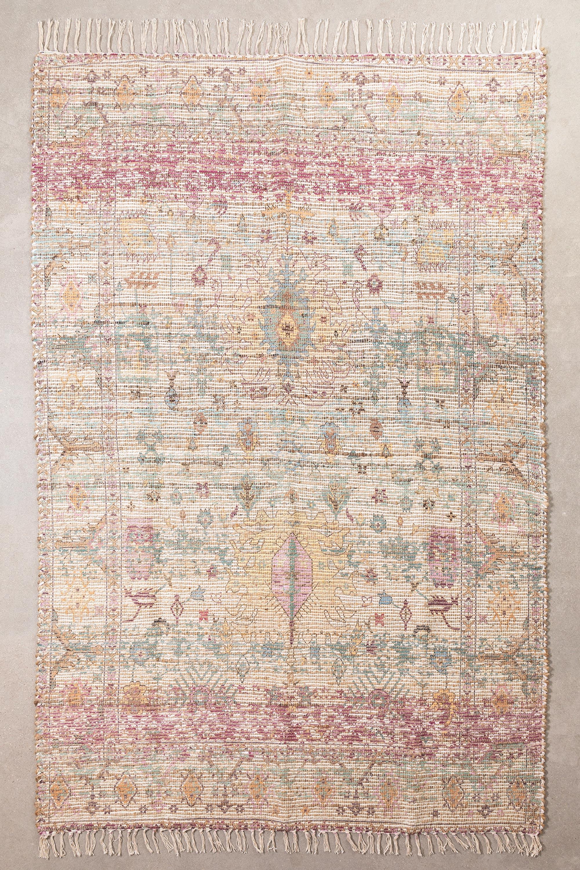 Vloerkleed van jute en stof (284x174 cm) Demir, galerij beeld 1