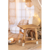 Lage Pid houten kruk, miniatuur afbeelding 1