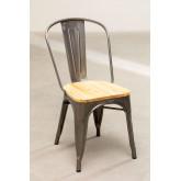 LIX stoel geborsteld staal met houten zitting , miniatuur afbeelding 2