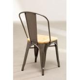 LIX stoel geborsteld staal met houten zitting , miniatuur afbeelding 4