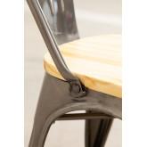 LIX stoel geborsteld staal met houten zitting , miniatuur afbeelding 6