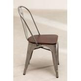 LIX stoel geborsteld staal met houten zitting , miniatuur afbeelding 3